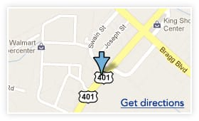 Map of the location of Day and Night Family Dental office
