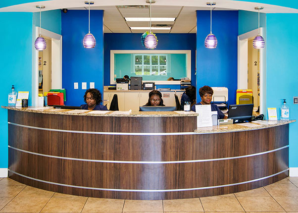 Front Desk at Day and Night Family Dental